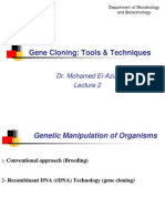 Lecture 2. Gene Cloning
