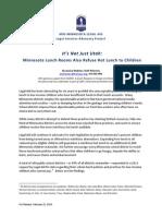 2014 Minnesota School Lunch Report