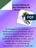 Diferencia entre sistemas de información e investigación de