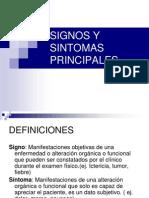 Signos y Sintomas Principales