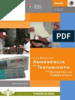 Guía Básica de Adherencia al Tratamiento de pacientes con tuberculosis