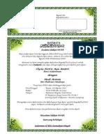 Contoh Surat Undangan Syukuran Pernikahan