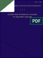 73002890 Conte de Boor Elementary Numerical Analysis Algorithmic Approachs