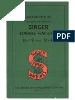 Singer 31 47 and 31 19 Manual