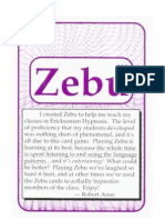 Zebu the Hypn Language Card Game Flashcards