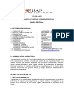 SILABO DE FÍSICA I - UAP