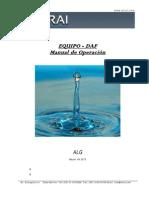 ALG - manual de operación