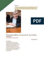 cervantes-ortiz, Leopolodo-ART- El lenguaje bíblico en la poesía de José Emilio Pacheco