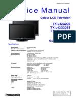 Panasonic TX-l32u2e TX-l42g20e Es TX-lf42g20s Chassis Glp25 Sm