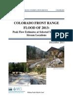 Colorado Front Range Flood