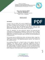 Basura Free Elections Report
