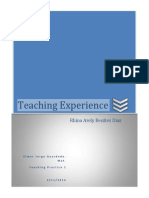 Teaching Experience..