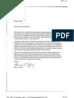 Letter to Gladwin School Board
