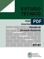 ET-91 Argamassa Assentamento Paredes Alv Resistente