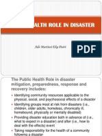 Public Health Role in Disaster