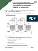 Simulacion-Evaporador Triple Efecto