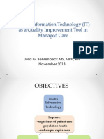 Health IT and Quality - IHQN 2013