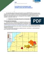 Relatório de Atividade da EMATER RIO  Escritorio de São Gonçalo ano 2008