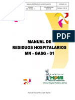 Manual Residuos Hospitalarios HOMI