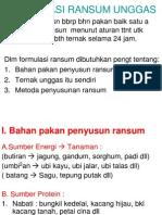 Bu Ari s.pt. Mp. k4- Formulasi Ransum Unggas