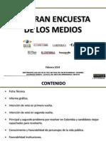 LA GRAN ENCUESTA DE LOS MEDIOS ELECCIONES 2014 _ 3 Vf.ppt