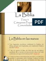 La Biblia tema 3 pequeñas comunidades