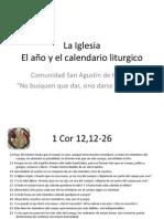 La Iglesia y el año liturgico