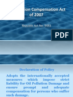 Oil Pollution Compensation Act of 2007