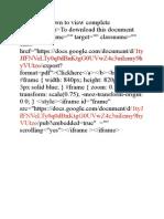Google Docs Embeding Source Code