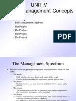 Unit v Project Management Concept