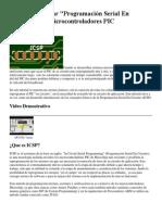 Como Usar ICSP (Programacion Serial en Circuito)