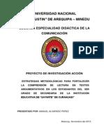Perfil de Proyecto de Investigacion Accion Manuel