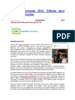 reporte horizonte 2013