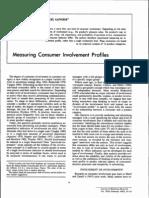 Measuring Consumer Involvement Profiles