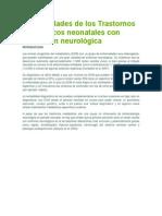 Generalidades de los Trastornos metabólicos neonatales con afectación neurológica