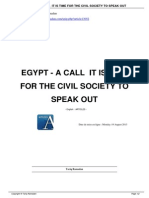 190813egypt a Call It is Time for the Civil Society to Speak Out