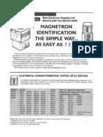 Micropart Reemplazo Equivalencia Magnetron