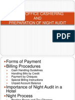 Front Office Cashiering and Preparation of Night Audit