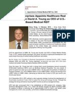 Heng Fai Enterprises Appoints Healthcare Real Estate Veteran David A. Young as CEO of U.S.- Based Medical REIT