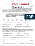 Adding Adjectives 2 Worksheet