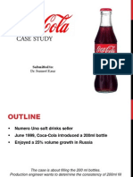 Coca Cola business statistics case