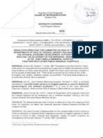 """HR 809 on the """"Modernization Plan"""" of Fabella Hospital and Other Public Regional Hospitals"""