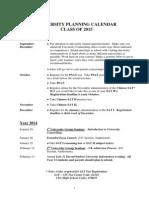 University Planning Calendar 2015