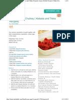 Wraps- Garlic Tomato Chutney ( Kebabs and Tikkis Recipes)