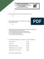Exam i - Review - Answers
