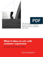 Bain What It Takes to Win in Customer Experience