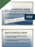 Adaptive Portfolio Theory