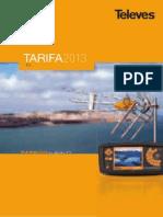 Tarifa Televes 2013 Reducida