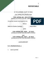 Supreme Court Judgement UGC NET Exam