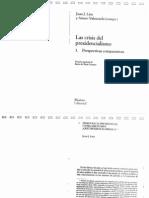 _La Crisis Del Presidencialismo, Perspectivas Comparativas_, Juan Linz y Arturo Valenzuela